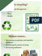 Recyle Power Point Presentation (1)