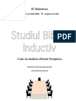 Inductive Bible Study (Instruire in Studiu Biblic) - IC Ministries