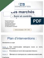 Présentation - Suivi et controle de la gestion des marchés publics