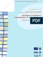 European Consumers' Conceptions of Organic Food a Review of Available Research