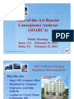 State-of-the-Art Reactor  Consequence Analyses U.S. Nuclear Regulatory Commission 1 (SOARCA)