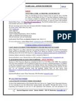 GSA Announcements Feb 21st 2012