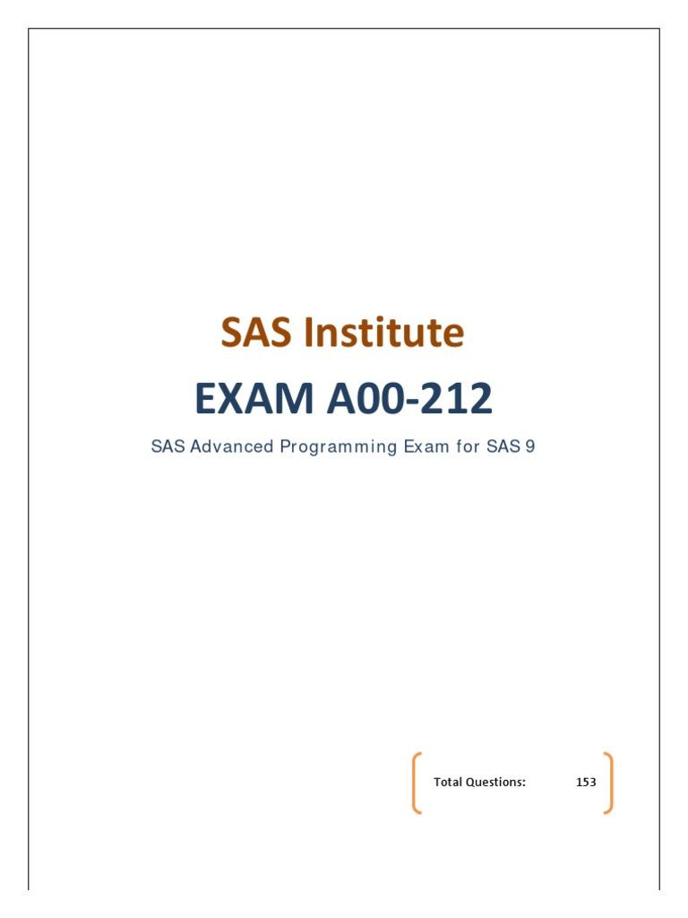 Sas Certification A00 212 Sas Software C Programming Language