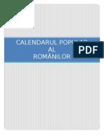 Calendarul Popular Al Romanilor