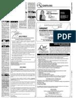 Offres d'emploi du Journal de l'Oie Blanche