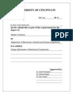 Design Optimization of Mechanical Components
