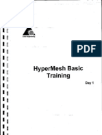 Altair Hyper Works Hypermesh Basic Training Day1 (Scans, 250 Pages)