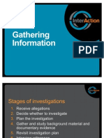 SEA Investigations WOrkshop Session 4 - Gathering Information