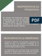 PROPÓSITOS DE LA PEDAGOGIA