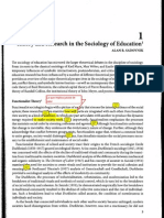 Theory and Research in the Sociology of Education