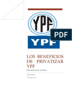 Los Beneficios de Privatizar YPF