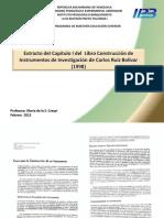 Extracto Del Capitulo I Del Libro Construccion de Instrumentos de Investigacion de Carlos Ruiz Bolivar 1998