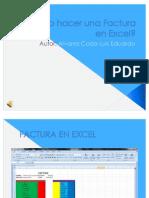 Como Hacer Una Factura en Excel