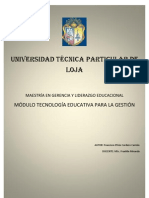 Tecnología Educativa para la Gestión preg. 1