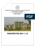 Bhaskaracharya College Prospectus 2011-12
