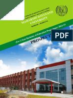 MDU BEd Prospectus 2012-2014