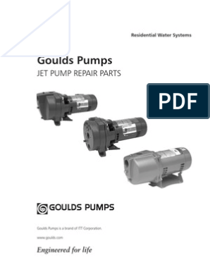 Goulds Pumps Jet Pump Repair Parts (1) | Pump | Valve