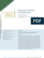 Prescriptive Authority for Psychologists