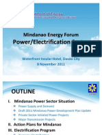 Electric Power Situation for Mindanao by DOE Nov 2011