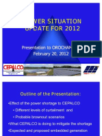 Electric Power Update by CEPALCO Feb 2012