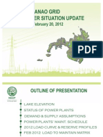 Electric Power Update by NGCP Feb 2012