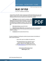 IMF Country Report Fiji 2011 Article IV Consultation