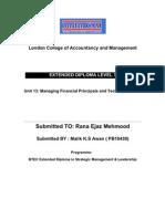 U-13 Managing Financial Principal and Techniques