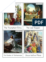Holy Week Sequencing Cards