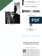 Durkheim Emile - Sociologia Y Filosofia