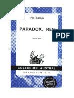 Baroja, Pío - Paradox Rey