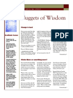 Nuggets of Wisdom vol 1. issue 2. Jan/Feb 2012