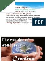 The Wonder of Wonders