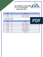 FALCON SOFTBALL Tournament Schedule