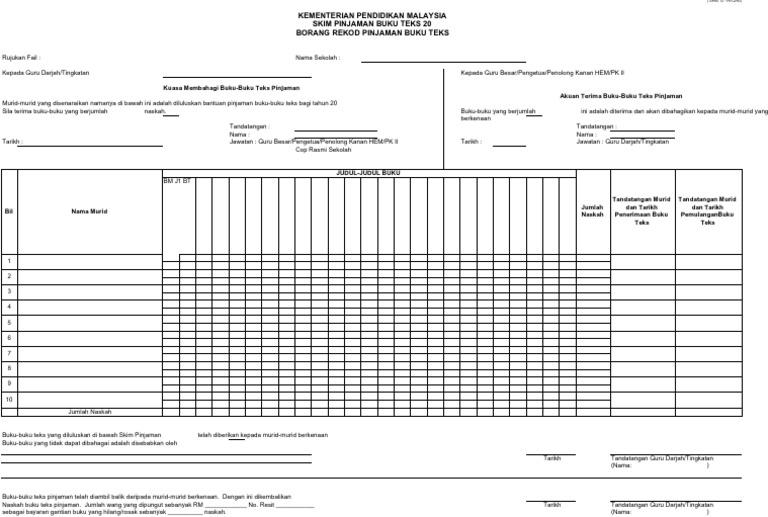 Borang G Spbt Updated 2012