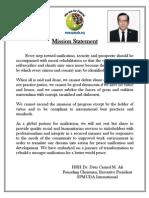 Dr. Camad Ali Mission Statement