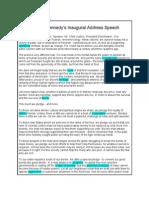 JFK Speech Political Language