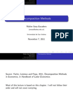 Decomposition Methods