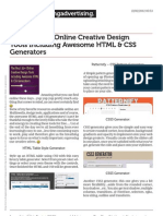 Online Creative Design Tool_html_css