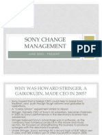 Sony Change Management