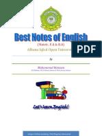 Notes English Matric AIOU