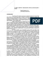 La Universidad del Perú. Fuentes y Bibliografía Crítica, Metodología y Estado de la Cuestión