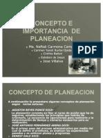 Presentacion Concepto e Importancia de La Planeacion Fundamentos de Gestion Empresarial