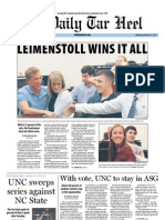 The Daily Tar Heel for February 22, 2012
