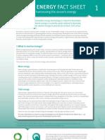 Marine Energy FactSheet_No1