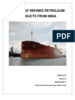 Export of Refined Petroleum Product From India