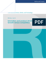 McKinsey Telecoms. RECALL No. 19 - Innovation and product development