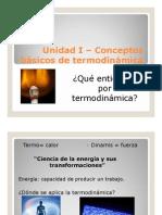 Unidad I – Conceptos básicos de termodinámica