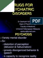 Drugs for Psychiatric Disorders