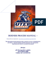 Bussiness Process Manual