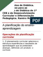 A planificação didática conceção e condução do ensino